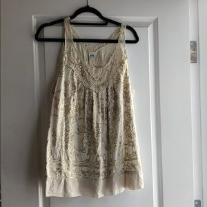 Anthropologie Sequin and Lace Top